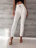 Светлые женские брюки 39-409, фото 3