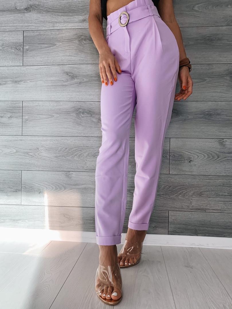 Светлые женские брюки 39-409