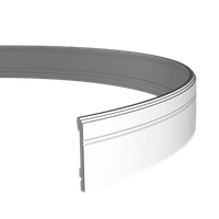 Плінтус підлоговий 1.53.103 гнучкий, довжина 2м, Європласт, фото 1