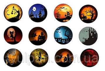 Вафельные картинки  для кексов капкейков маффинов пряников хэллоуин