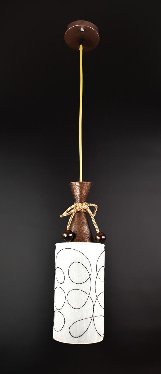 Люстра потолочная подвесная на 1 лампочку 10120/1 Коричневый 50х12х12 см.