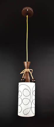 Люстра потолочная подвесная на 1 лампочку 10120/1 Коричневый 50х12х12 см., фото 2