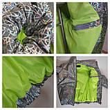 Куртка для девочки светоотражающая из рефлективной ткани подростковая с голографическим принтом Паутинка, фото 5