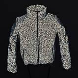 Куртка для девочки светоотражающая из рефлективной ткани подростковая с голографическим принтом Паутинка, фото 10