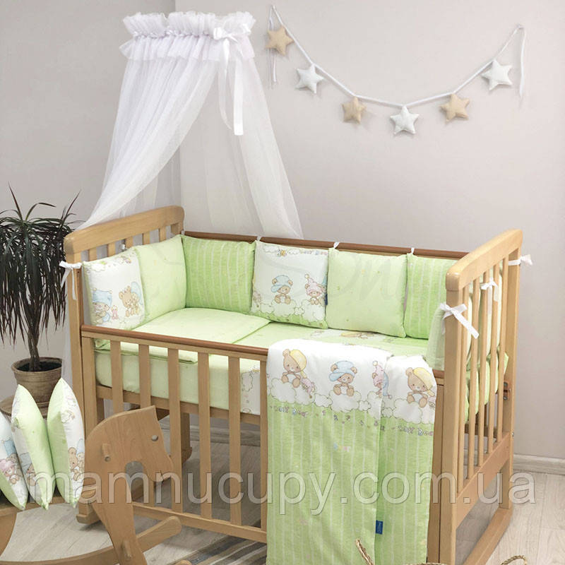 Комплект постельного белья в стандартную кроватку Baby Design Малыши в шапочках ТМ «Маленькая Соня»