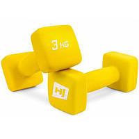 Набор гантелей для фитнеса / Гантели неопреновые квадратные 2x3kg HS-V030DS
