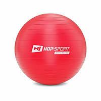 Фітбол, м'яч для фітнесу/Фитбол, мяч для фитнеса Hop-Sport 55cm HS-R055YB red + насос