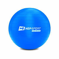Фітбол, м'яч для фітнесу/Фитбол, мяч для фитнеса Hop-Sport 55cm HS-R055YB blue + насос