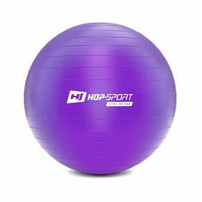 Фітбол, м'яч для фітнесу Hop-Sport 75cm HS-R075YB violet + насос, фото 2