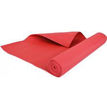 Фитнес коврик универсальный тренировочный, 4 mm red