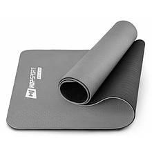 Коврик спортивный для фитнеса TPE 0,6 см HS-T006GM grey