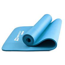 Коврик мат для фитнеса и йоги HS-N010GM 1 см light blue