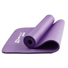 Фитнес коврик тренировочный HS-N010GM 1 см violet