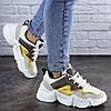 Кроссовки женские Fashion Frasier 2126 36 размер 23,5 см Бежевый, фото 4