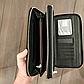 Чоловічий гаманець чорний клатч на блискавках код 254, фото 7