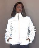 Куртка рефлективна світловідбиваюча підліткова для дівчинки з неоновою підкладкою демісезонна, фото 9