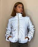 Куртка рефлективна світловідбиваюча підліткова для дівчинки з неоновою підкладкою демісезонна, фото 10