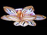 Светодиодная люстра с диммером и LED подсветкой, цвет золото, 165W, фото 4