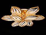 Светодиодная люстра с диммером и LED подсветкой, цвет золото, 165W, фото 3
