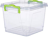 Контейнер для хранения Al-Plastic Квадратний 4,9л 25,8х23,4 см h13,8 см полипропилен (571986)