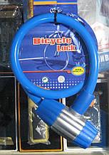 Замок-трос велосипедний з 2-ма ключами 22 на 800 мм (синій)