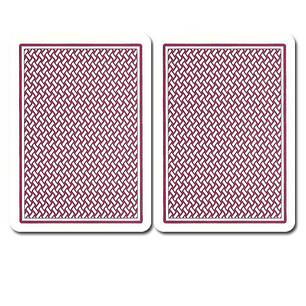 """Пластиковые игральные карты Copag """"Texas Hold'em"""" Gold бордовые, фото 2"""