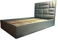 """Двуспальная Кровать """"Quadro"""" 160*200 с мягким изголовьем в форме плиток."""