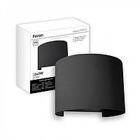 Фасадный светодиодный светильник Feron DH013 (черный)