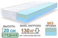 Беспружинный ортопедический двуспальный матрас ARGENTUM MOON / АРГЕНТУМ МУН 160x200