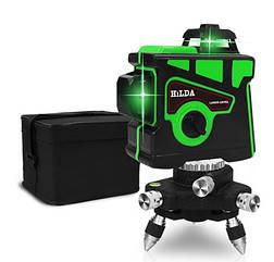 САМИЙ ЯСКРАВИЙ ПРОМІНЬ ДО 50 МЕТРІВ!!! Лазерний рівень HILDA 3D найвигіднішу пропозицію
