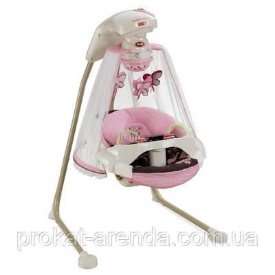 """Укачивающий центр или люлька для новорожденных  Fisher-Price """"Бабочка Мокко"""" с проектором"""