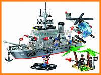 """Конструктор """"Военный корабль (крейсер)"""" 614 деталей Brick"""