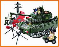 """Конструктор """"Военный танк"""" 466 деталей Brick"""