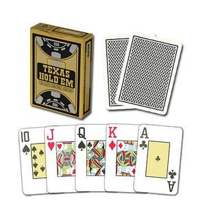"""Пластиковые игральные карты Copag """"Texas Hold'em"""" Gold черные, фото 2"""