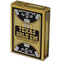 """Пластиковые игральные карты Copag """"Texas Hold'em"""" Gold черные, фото 3"""