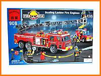 """Детский Конструктор """"Пожарная техника"""" 607 деталей Brick"""