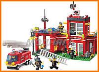 """Детский Конструктор """"Пожарная часть"""" 380 деталей Brick"""