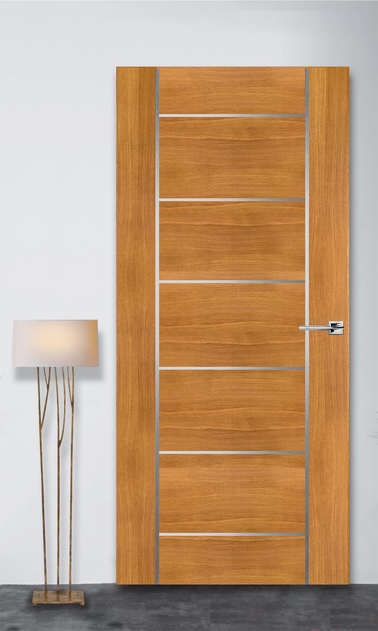 Міжкімнатні двері Флеш 8 світлий дуб ПГ (прихованого монтажу)
