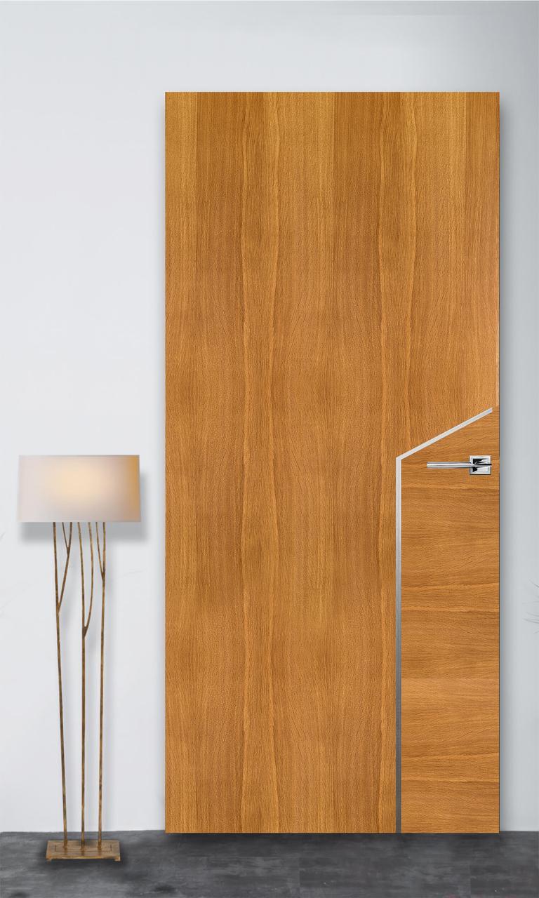 Межкомнатная дверь Флэш 10 светлый дуб ПГ (скрытого монтажа)