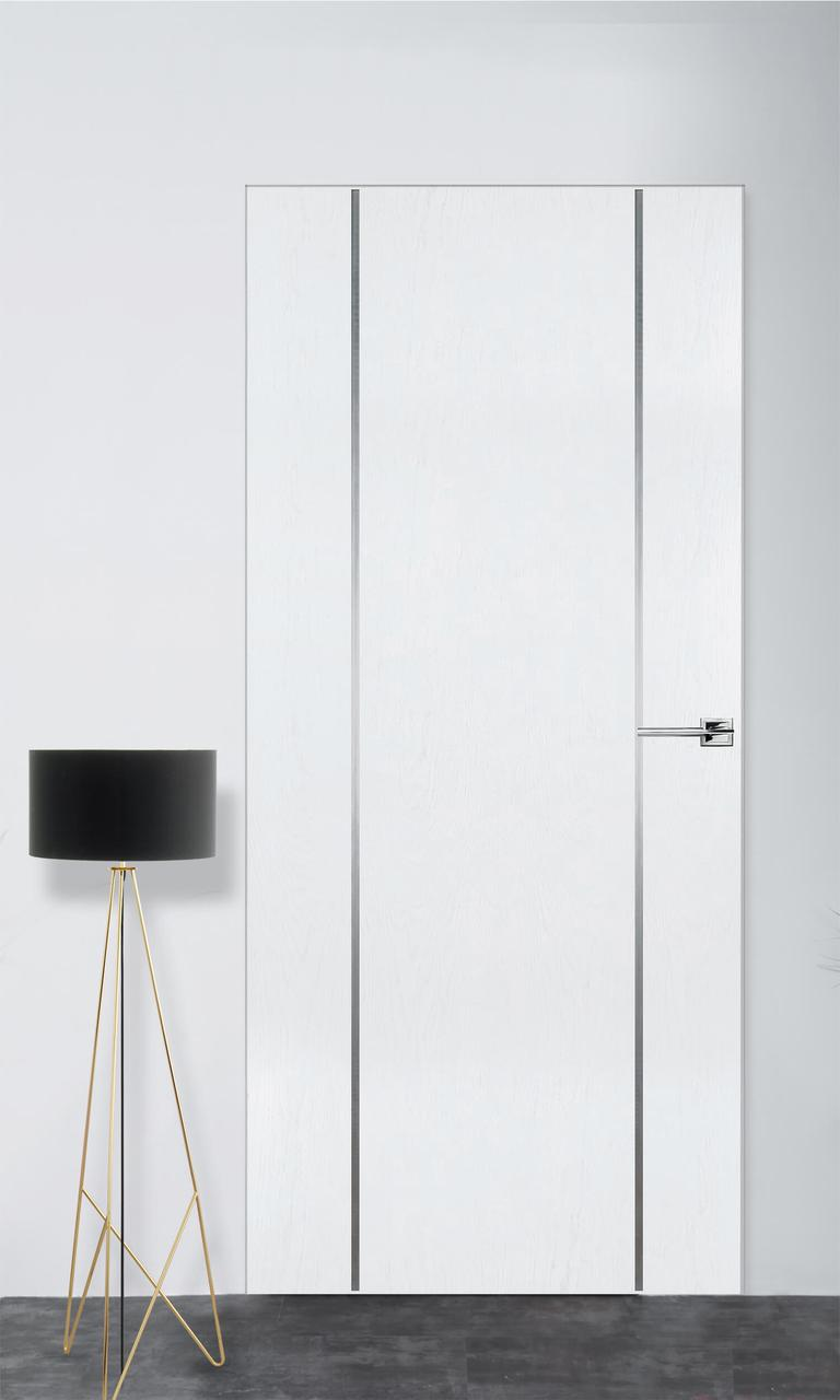 Межкомнатная дверь Флэш 3 белый ясень ПГ (скрытого монтажа)