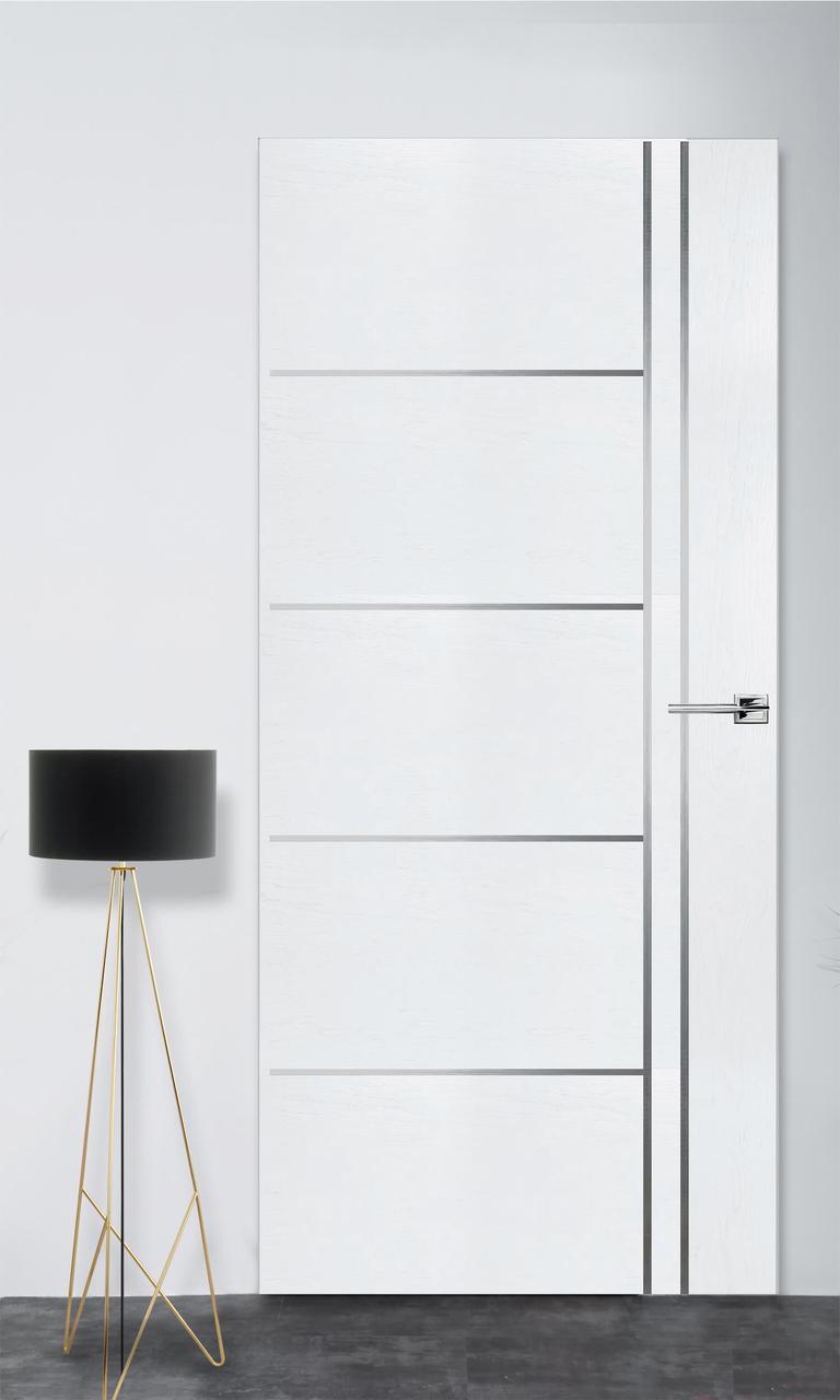Межкомнатная дверь Флэш 5 белый ясень ПГ (скрытого монтажа)