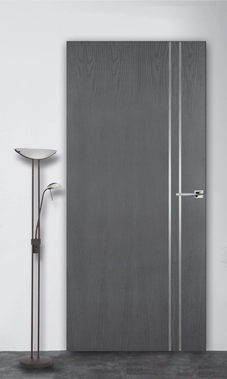Межкомнатная дверь Флэш 4 серый ясень ПГ (скрытого монтажа)