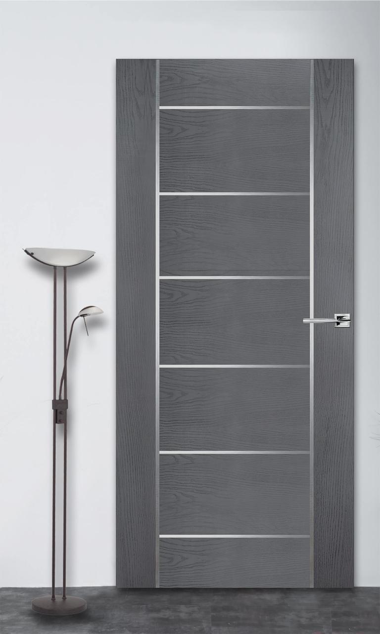 Межкомнатная дверь Флэш 8 серый ясень ПГ (скрытого монтажа)