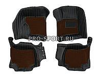 Коврики 3D VIP класса на липучках Porsche Canyenne 2010~2013 г.в., фото 1