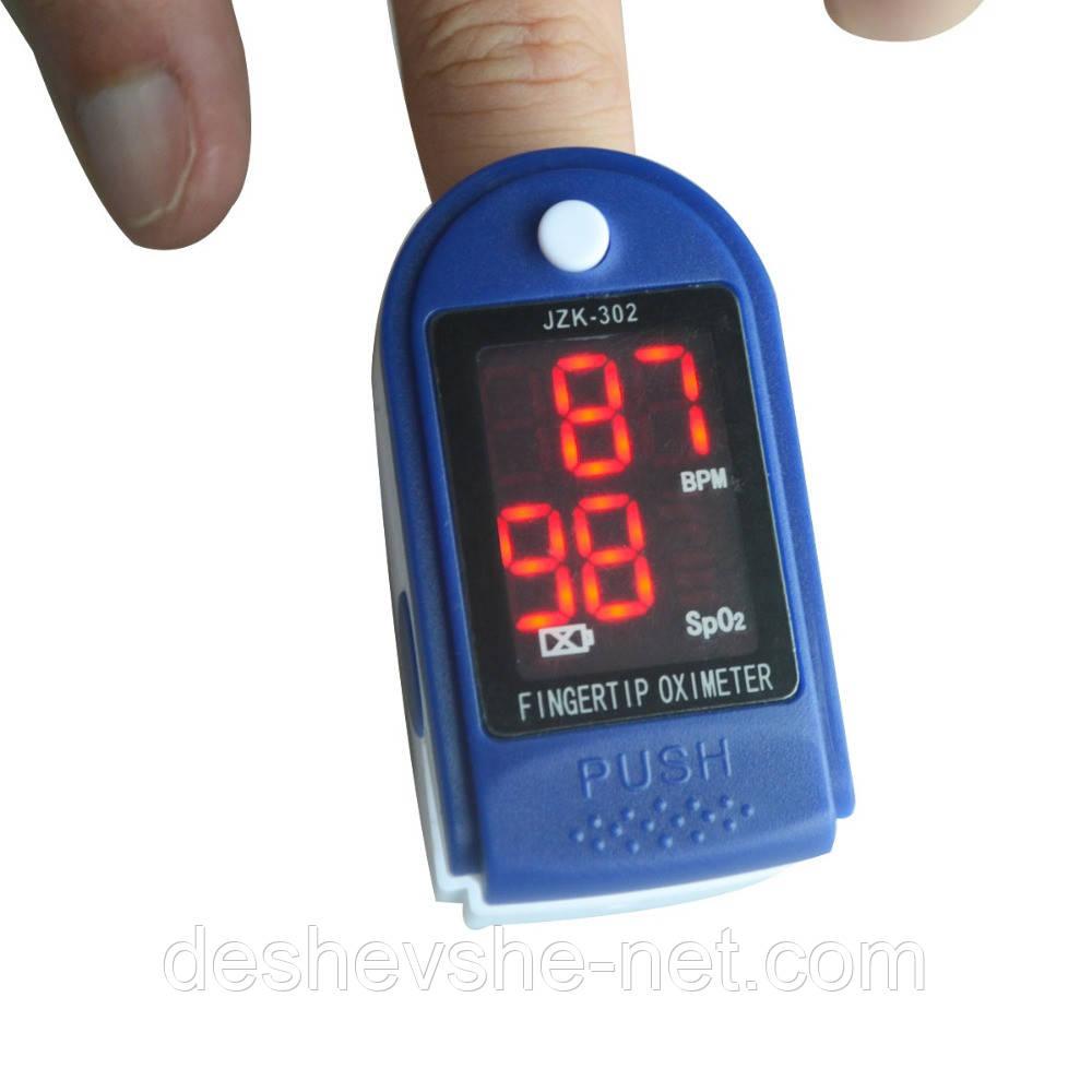 Портативный пульсоксиметр на палец для измерения сатурации кислорода и частоты пульса