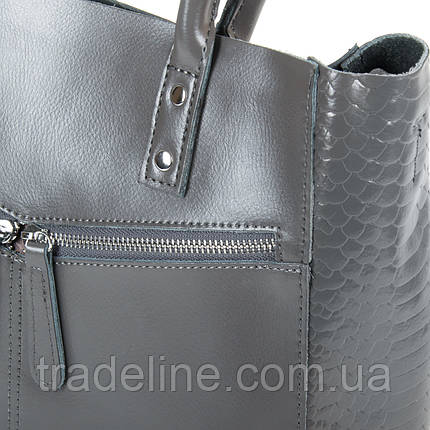 Сумка Женская Классическая кожа ALEX RAI 9-01 8713-12 grey, фото 2