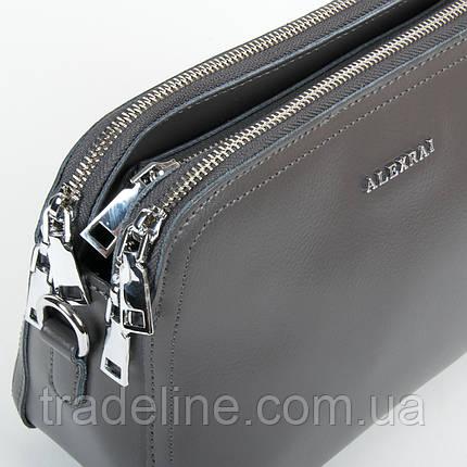 Сумка Жіноча Клатч шкіра ALEX RAI 9-01 8725 grey, фото 2