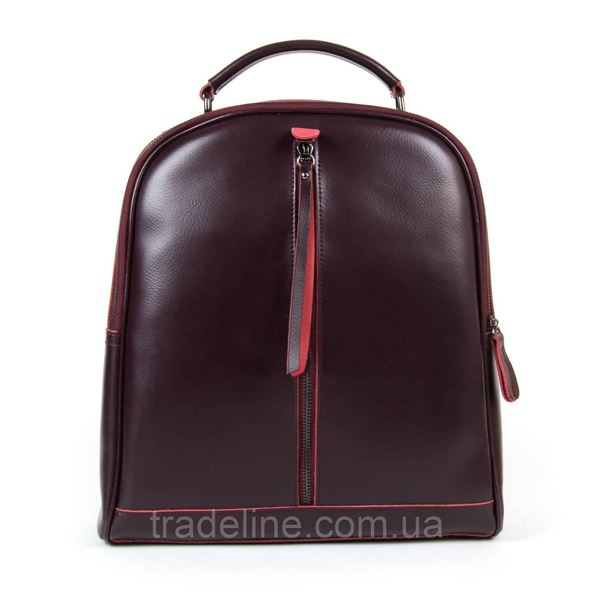 Сумка Женская Рюкзак кожа ALEX RAI 9-01 8694-3 wine-red