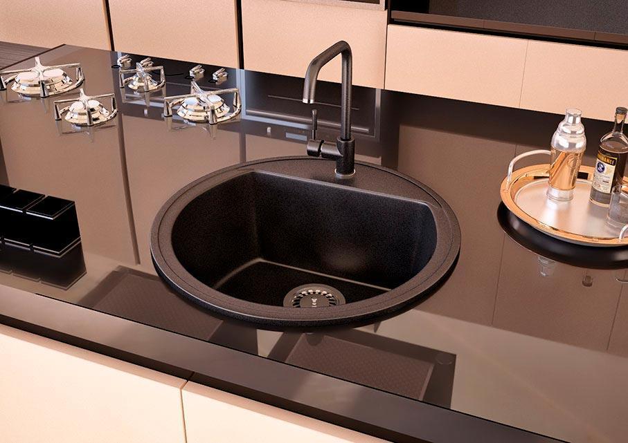 Кухонна мийка VALENTINA Gr Paula чорний