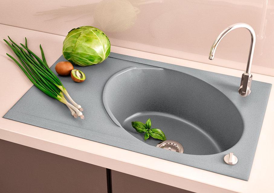 Кухонна мийка VALENTINA Gr Valencia сірий